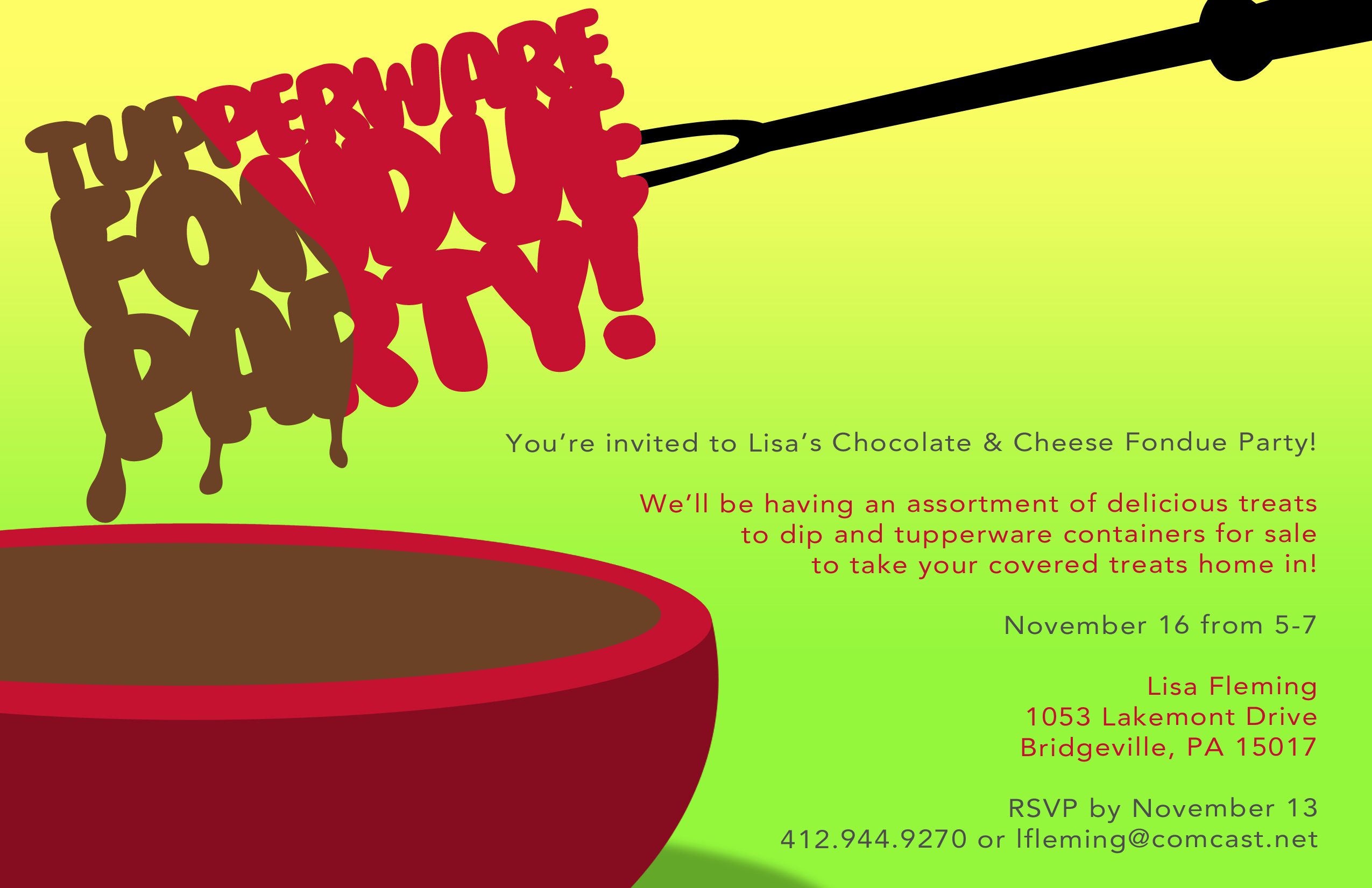 tupperware party invitations